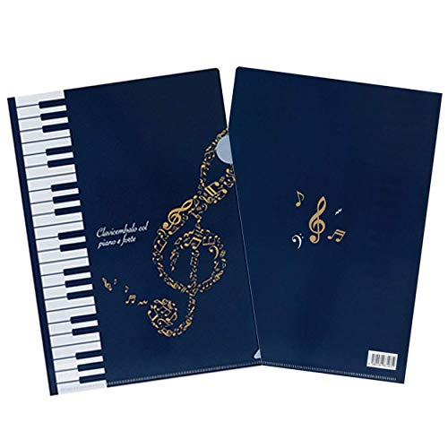 Piano line A4クリアファイルト音記号&鍵盤柄 ハミング ピアノライン (12)