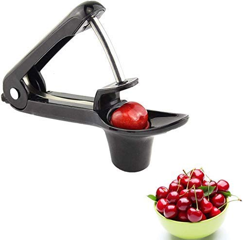 Gxhong Cherry Pitter HeavyDuty Cherry Pitter Remover Olive Pitter Tool Portable Cherry Pitter Tool for Home Kitchen Cherry Jujube and Red Date  Black