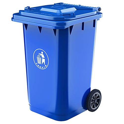 Why Should You Buy WDDLD Outdoor Trash Can Large Plastic Sanitation Recycling Bin with Pulley Kitche...