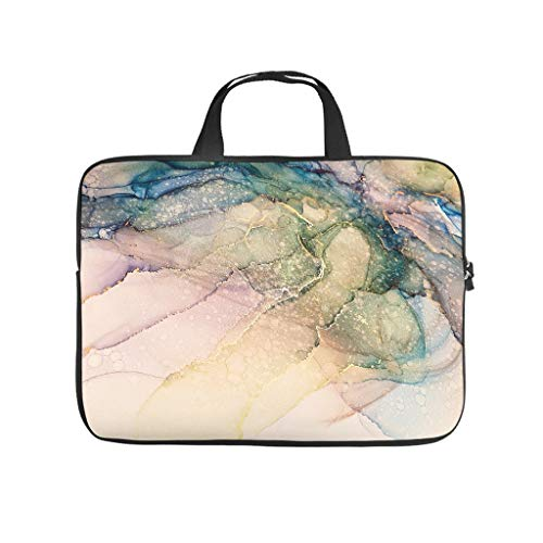 Laptop Bag Magic Marbling Anti-static Slim -Computer Case Compatible with 13-15.6 inch white 12 zoll