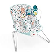 Lightweight infant seat that bounces along to your baby's natural movements Removable toy bar with 2 bat-at toys Calming vibrations help soothe baby Machine-washable seat pad adjustable 3-point harness, and non-skid feet Max. weight 20 lb/9 kg