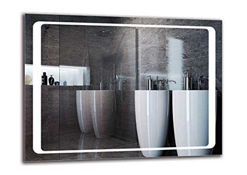 Espejo LED Premium - Dimensiones del Espejo 80x60 cm - Espejo de baño con iluminación LED - Espejo de Pared - Espejo de luz - Espejo con iluminación - ARTTOR M1ZP-49-80x60 - Blanco frío 6500K