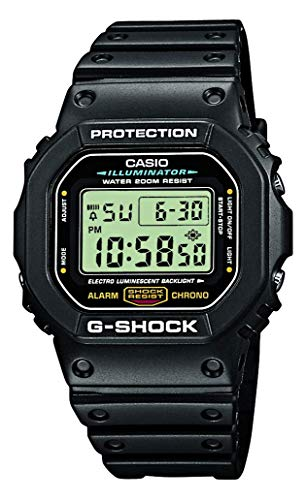 Casio G-SHOCK Reloj Digital, 20 BAR, Negro, para Hombre, DW-5600E-1VER
