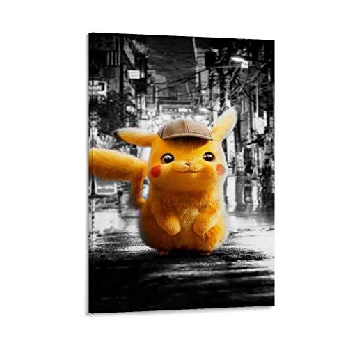 GSSD Póster decorativo de Detective Pikachu para pared, diseño de detective Pikachu, 50 x 75 cm