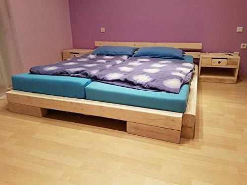 Bett aus Balken Balkenbett Doppelbett Massivbett