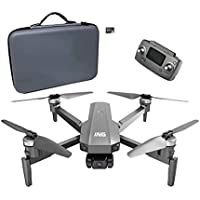 Beantech ING Speedbird I63E Foldable Drone with 4K Camera, EIS, 3-Axis Gimbal and 25 min. Flight Time. Includes Carrying Case and 16 GB Micro SD Card (Gray)