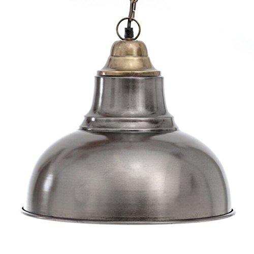Emporio Arts Rétro Style Industriel Cache-pot Noir mat forme Pendentif lumière, fer, E27, 40 Watts