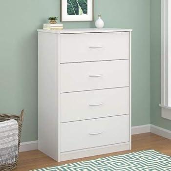 4-Drawer Dresser  White