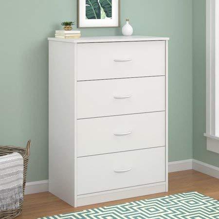 4-Drawer Dresser (White)