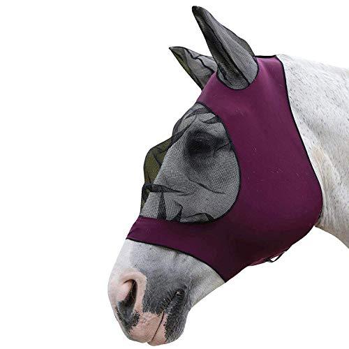 Tabpole Fliegenhaube für Pferde, atmungsaktiv, bequem, Netz-Abdeckung mit Ohren für Pferde