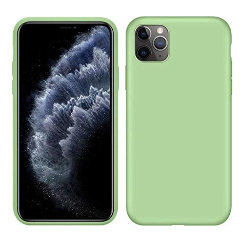 Carcasa de silicona líquida original para Apple iPhone 11 Pro Max 7 8 6 6S Plus XR X XS MAX 5 5S SE 11 carcasa a prueba de golpes, color verde, para iPhone 7