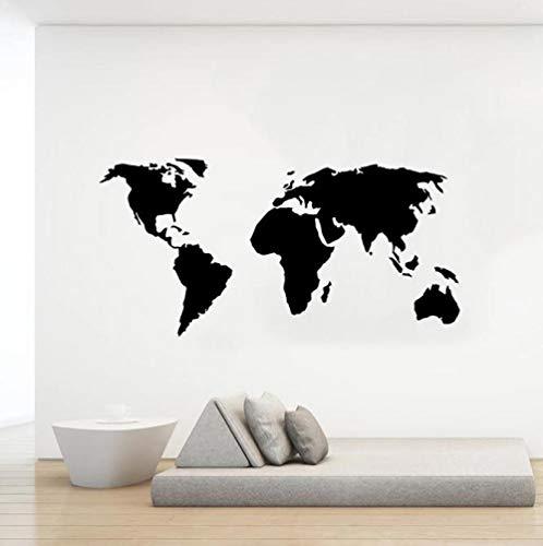 Faucet oersing Mapa del Mundo calcomanía de Pared Decoraciones de Aula Pegatina de Vinilo Pegatinas de Pared para Dormitorio Sala de Estar escuelas calcomanías Grandes tamaños 85x42cm