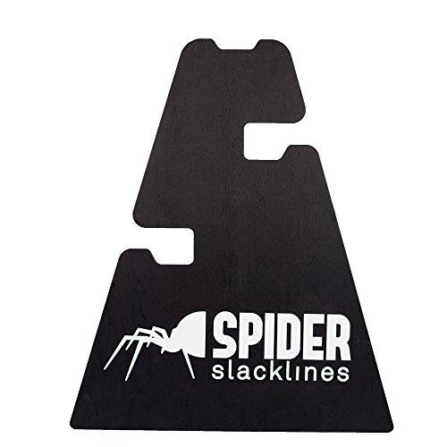 SPIDER SLACKLINE 16061-3 Height Stand Slackline - Set 1x Holz Unterstützung - DREI Höheneinstellungen 30-50 - 70 cm - Slackline Zubehör, Boden - Made in Italien