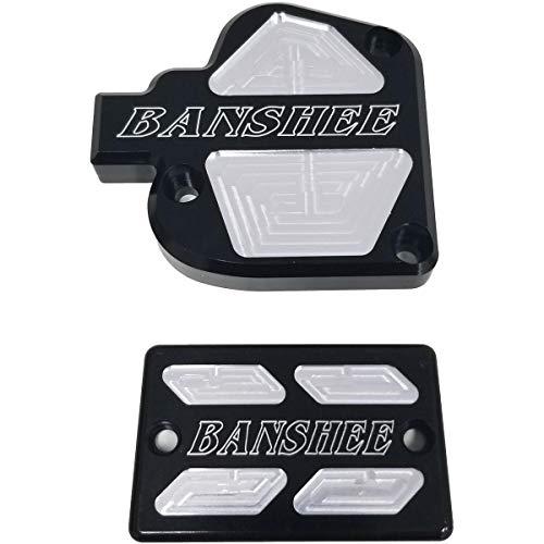 Modquad Brake & Throttle Reservoir Cover Set (Black) for 87-06 Yamaha Banshee
