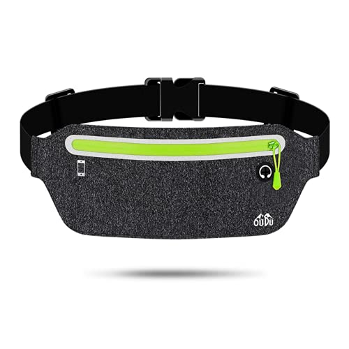 Slim running fanny pack, waterproof fashion running belt, reflective adjustable elastic band, men and women indoor outdoor sports exercise gym exercise belt, lightweight waist pack cell phone holder, suitable for a variety of cell phones.