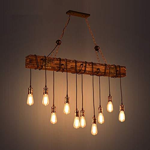 XIN kroonluchter retro nostalgie massief hout industrieel hout kroonluchter creatieve slaapkamer woonkamer kroonluchter