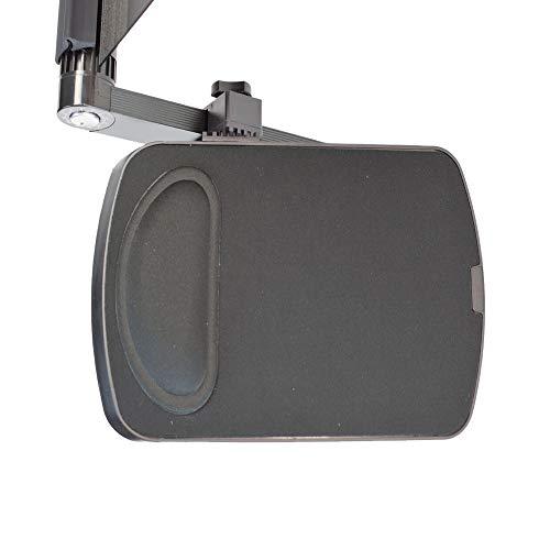 WorkEZ Mouse Pad: Ambidextrous, Adjustable, Removable Tilting, Aluminum Mouse Pad Platform for WorkEZ Ergonomic Laptop Stand, Lap Desk, Standing Desk