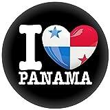 Button/Badge/Pin - I Love Panama Fahne Flagge (I Love Panama)