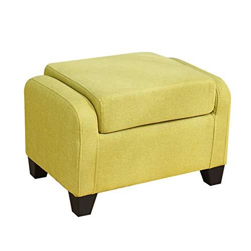 LDIW Reposapiés de sofá, Baúl Puff Taburete Otomano Tapizado Escabel para Hogar Salón Asiento Moderno Elegante Diseño,Verde