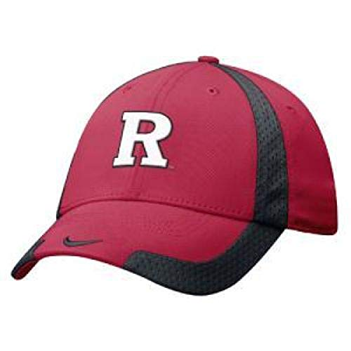 NIKE Rutgers Scarlet Knights B-Ball Swoosh Flex Hat - One Size - Adult - Red