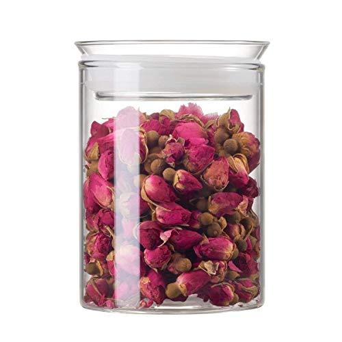 ZENS Vorratsglas Vorratsdose Glas, Borosilikatglas Glasbehälter mit Luftdichtem Deckel, 450ml Glas Vorratsdosen Aufbewahrungsglas für Tee Kräuter
