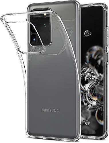Spigen Liquid Crystal Hülle Kompatibel mit Samsung Galaxy S20 Ultra -Crystal Clear