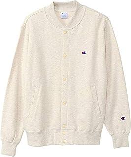 [チャンピオン] スウェットカーディガン 綿100% フロントホック 定番 ワンポイントロゴ刺繍 C3-Q003 メンズ