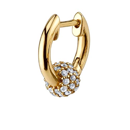 Clips Individuales Huggies, Pendiente de aro de Perlas de Cristal, Plata de Ley 925, ópalos de Oro, círculo de Bucle, joyería de Mujer-Huggies