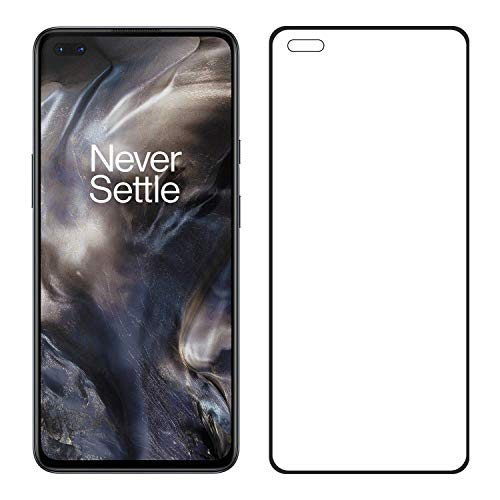 LINLO OG Super Gorilla Tempered Glass Screen Protector Full HD Quality Coverage Compatible for OnePlus Nord (Black)