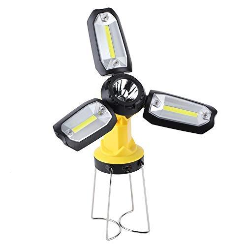 Zouminyy Camping Light, rutschfeste Kunststoff-LED-Taschenlampe, Beleuchtungswerkzeug Mutifunktionale USB-Aufladung für Bauarbeiten Camping Wandern