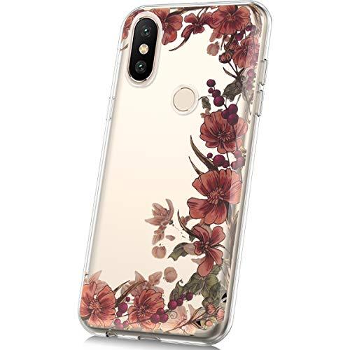 kompatibel mit Xiaomi Mi Mix 2s Hülle,JAWSEU für Xiaomi Mi Mix 2s Silikon Hülle Bunte Gemalt Muster TPU Silikon Schutz Handy Hülle Handytasche Schutzhülle Hülle Etui für Xiaomi Mi Mix 2s- Rose Blumen