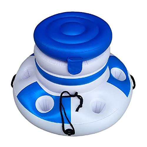 RongWang Cubo de hielo de agua inflable Proveedor de bebidas de cerveza Flotador de piscina Flotador de natación para adultos Balsa Anillo de natación Diversión en el agua de verano Juguetes para la p