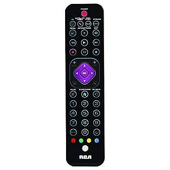 RCA 4 Device Remote Control - Universal Ultra Slim 4 Device Remote Control Platinum Pro for TV DVD Cable Satellite Streaming Devices and Audio/Soundbar  Fully Backlit Keys RCRTBL04BE