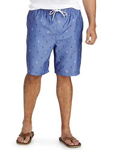 Amazon Essentials Men's Big & Tall Quick-Dry Swim Trunk fit by DXL, Anchor, 2XL