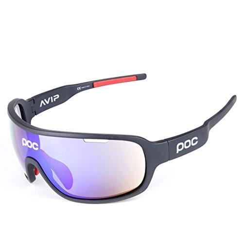 OPEL-R Gafas de sol polarizadas de media montura para montar al aire libre, gafas de sol, gafas de radiación de viento y arena/compactas, ligeras, cómodas sensaciones de peso, negro