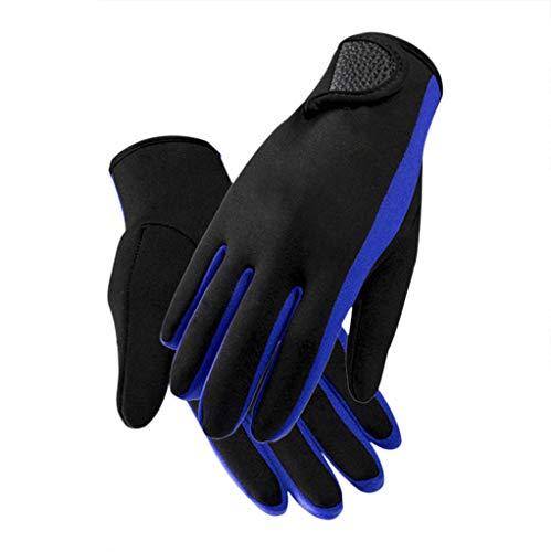 Guantes de neopreno premium de 1,5 mm para buceo, gruesos, con cinco dedos, guantes de buceo, antideslizantes, guantes de buceo para deportes acuáticos, para surf, buceo, snorkel, canoa, kayak