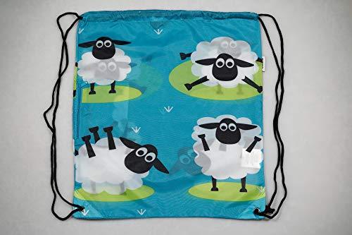Chilino Rucksack Schaf / Zusammenfaltbarer Rucksack mit Umtasche / Umweltfreundlich / 43 x 39 cm
