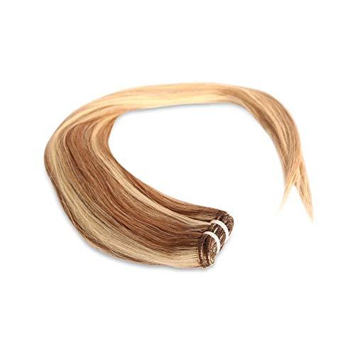 Tissage Brésilien Lisse méché blond et blond blanc 35cm 14 pouces