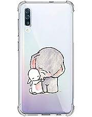 Oihxse Silicona Funda con Xiaomi Redmi 6 TPU Flexible Suave Transparente Protector Estuche Airbag Esquinas Reforzadas Ultra-Delgado Elefante Patrón Anti-Choque Caso (C4)