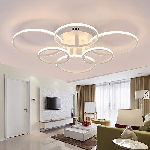 Interieur LED Moderne creatieve ring patroon 6 lichtbron / 8 lichtbron / 10 lichtbron geel wit acryl + lv woonkamer slaapkamer studie plafondlamp/kroonluchters/lamp