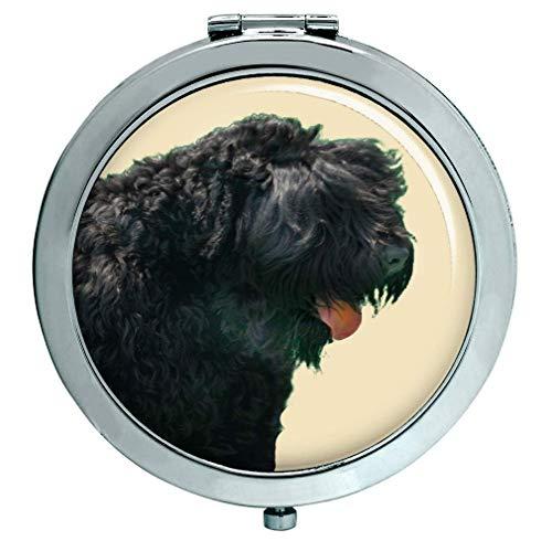 Noir Russe Terrier Miroir Compact