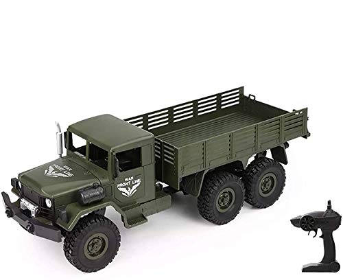 HSP Himoto 2.4GHz RC Ferngesteuerter 6WD Off-Road Militär Army Truck Crawler Fahrzeug Transporter, Komplett-Set RTF*