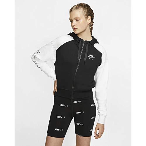 ナイキ(NIKE) エア ジップ フーディー パーカー ジャケット Air zip hoodie jacket セットアップ レディース (ブラック×ホワイト(Black×White), M) [並行輸入品]