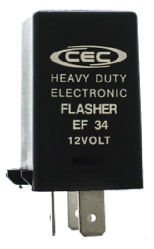 CEC Industries EF34 Electronic Turn Signal Flasher Relay 3 Prong
