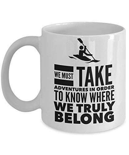 N\A Regalos de Moda Aventura Espera Taza - Taza de café Aventurero - Ideas de Regalos inspiradores para Hombres Mujeres Amigos compañeros de Trabajo