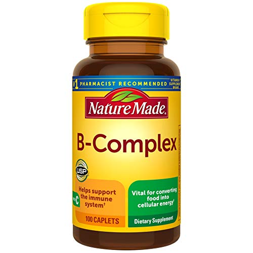 Nature Made B-Complex with Vitamin C Caplets, 100 Count