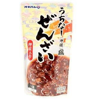 うちなー(沖縄)風 ぜんざい 押麦入り 170g×10袋 オキハム 金時豆と押し麦を使用して作った昔ながらのうちなーぜんざい 黒糖のやさしい甘みがおいしいスイーツ 沖縄土産にもおすすめ