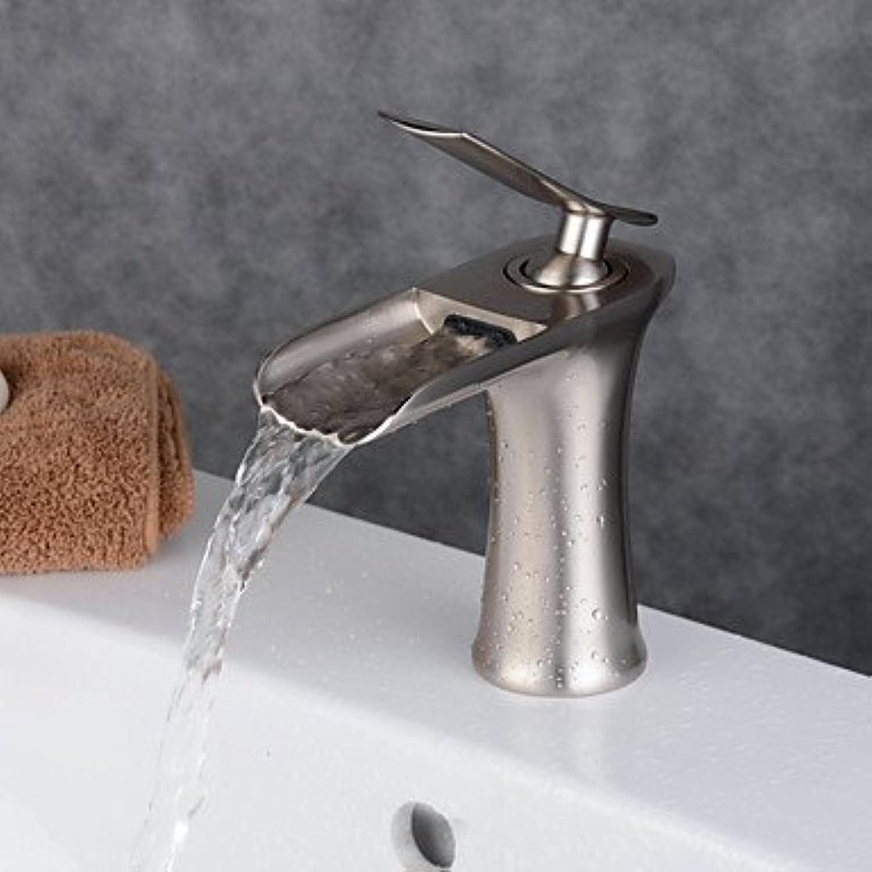 HZZymj-Traditionell Mittellage Breite spary with Keramisches Ventil Einhand Ein Loch for Bronze mit lschliff , Waschbecken Wasserhahn