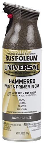 Rust-Oleum 258199 Surface, 12 oz, Dark Bronze Universal Hammered Spray Paint