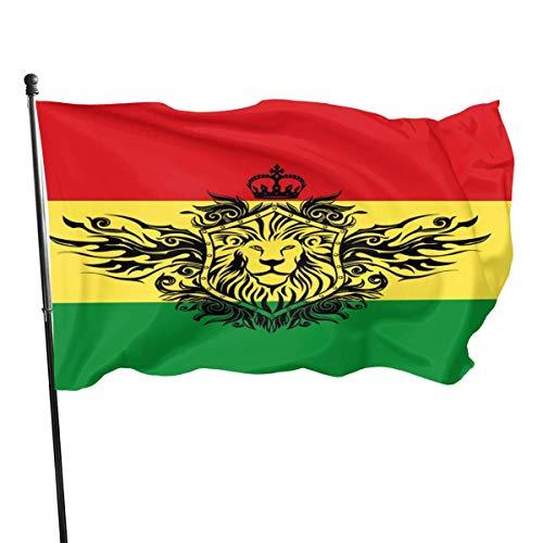 Jacklee Vlag van Ethiopië (2) Tuinvlaggen Duurzame Fade Resistant Decoratieve Vlaggen Premium Kwaliteit Officiële Vlag met Grommets Polyester Deluxe Outdoor Banner 2020 voor Alle seizoenen en vakanties- 3X 5 Ft